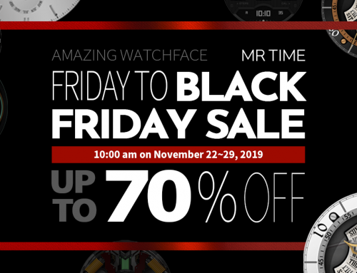 Save up to 70% on MR TIME's premium smartwatch face designs